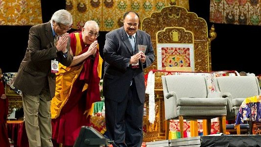Arun Gandhi and the Dali Lama