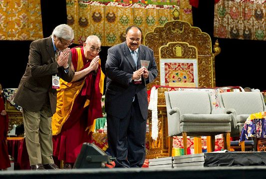 Arun Gandhi and the Dali Lama