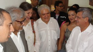 Arun Gandhi, Lynnea Bylund, Minister of Education and Culture Salvador, Brazil