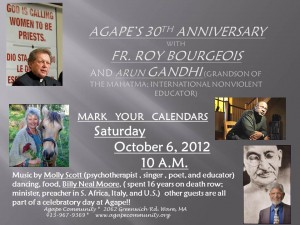 Arun Gandhi Keynote Speaker Agape 30th Anniversary