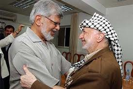 Arun Gandhi and Yasser Arafat