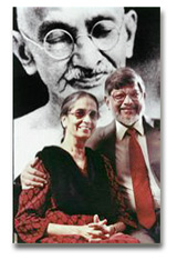 Arun and Sunanda Gandhi