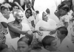 Bapu and Kasturba with children