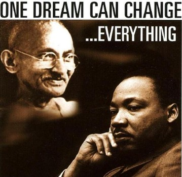 Gandhi and King become the Dream