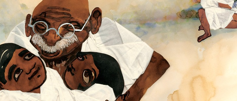 Grandfather Gandhi Illustration © Evan Turk